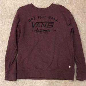 Vans crew neck sweatshirt